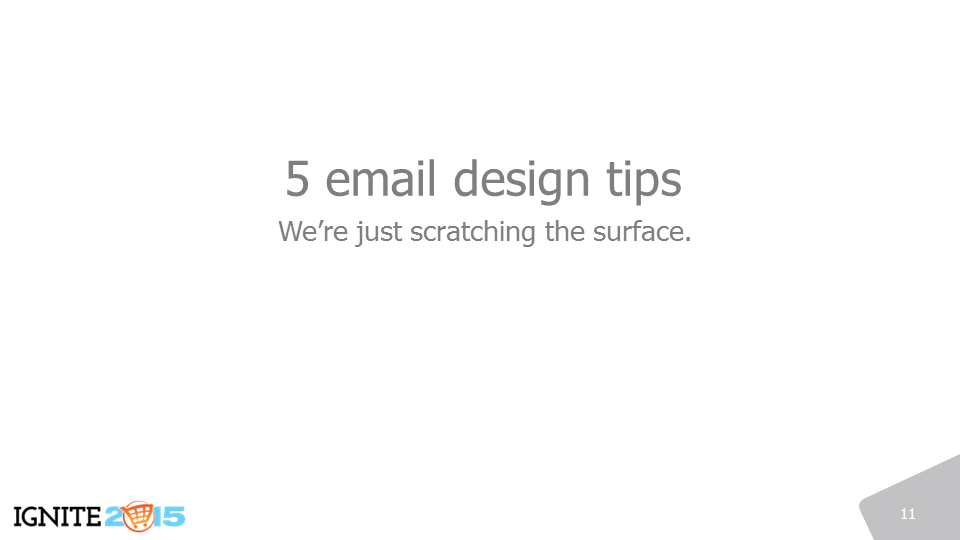 Email design tips for ecommerce merchants