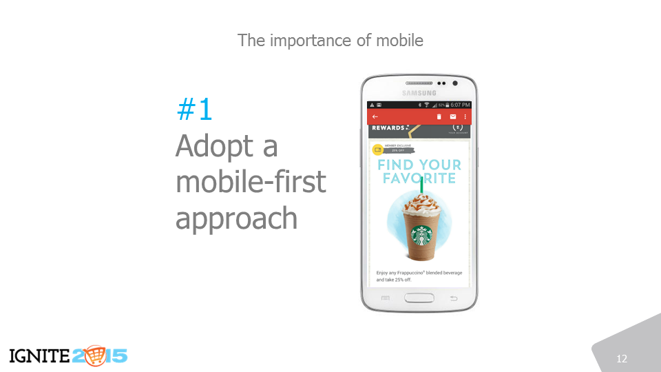 Adopt a mobile-first approach