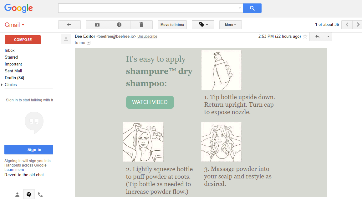 Aveda email