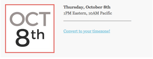 Webinar invitation date display