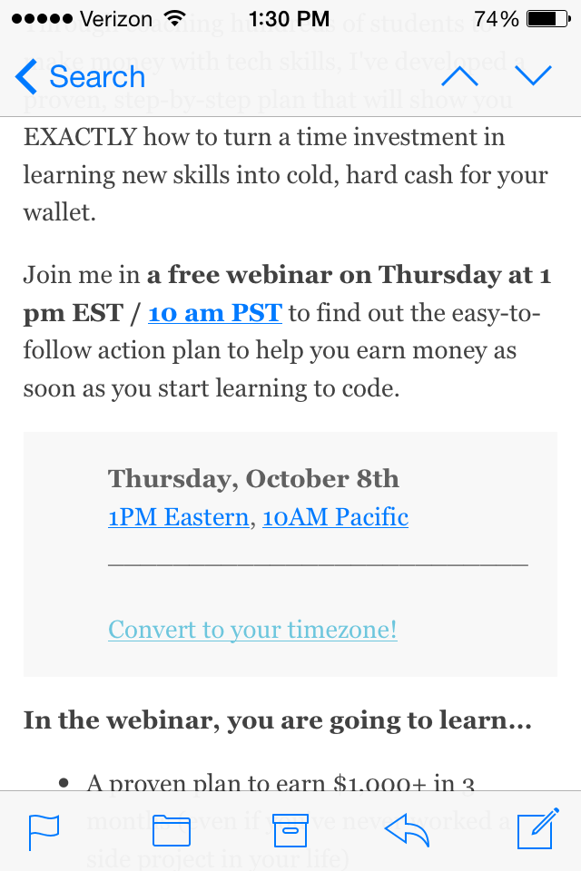 5 design tips for a great webinar invitation email example from webinar date display on mobile stopboris Choice Image