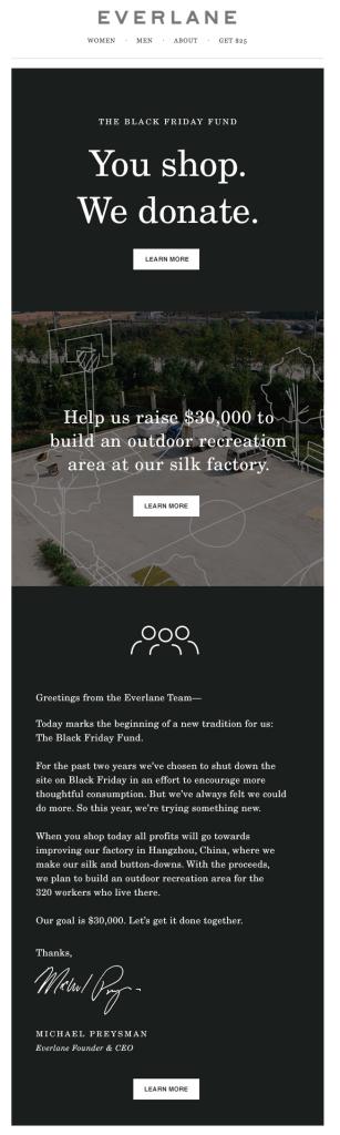 Everlane donate