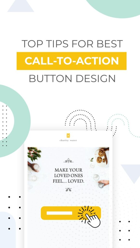 Call to Action Button Design Pinterest Cover