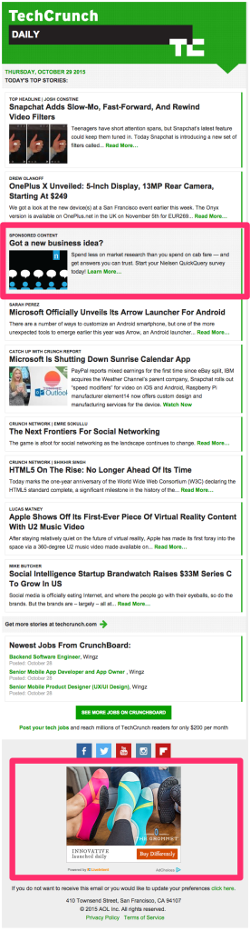 TechCrunch markup