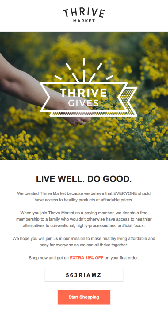 Thrive donate