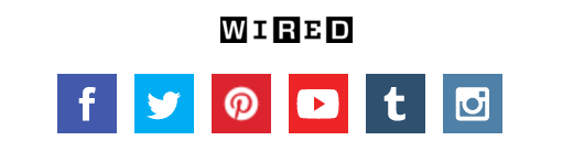 wired social media icons youtube