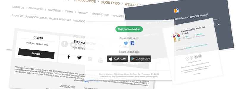Best practices for email footer design