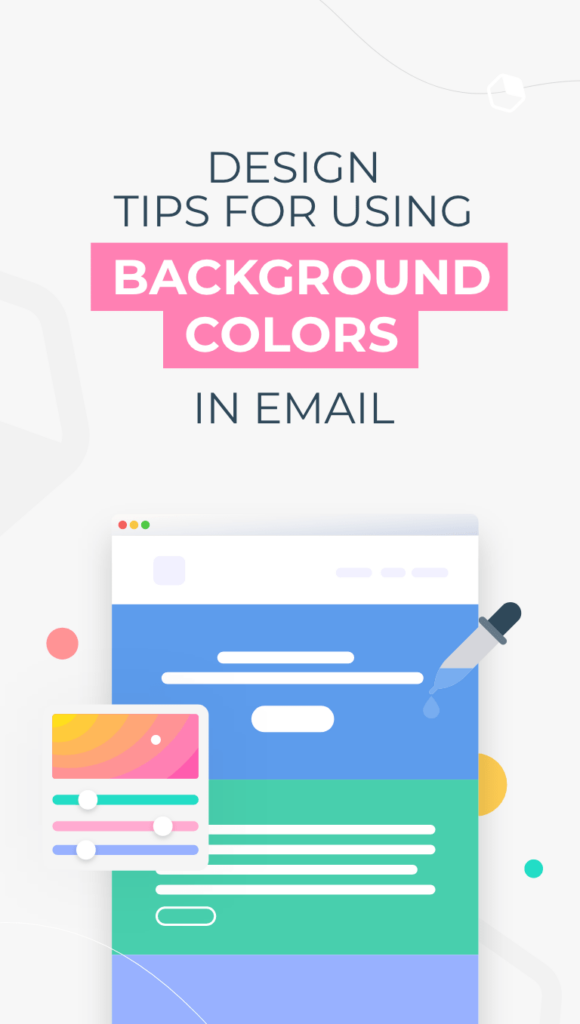 email layout with background colors