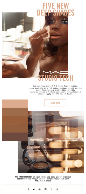 MAC Cosmetics' Use of Color in Email
