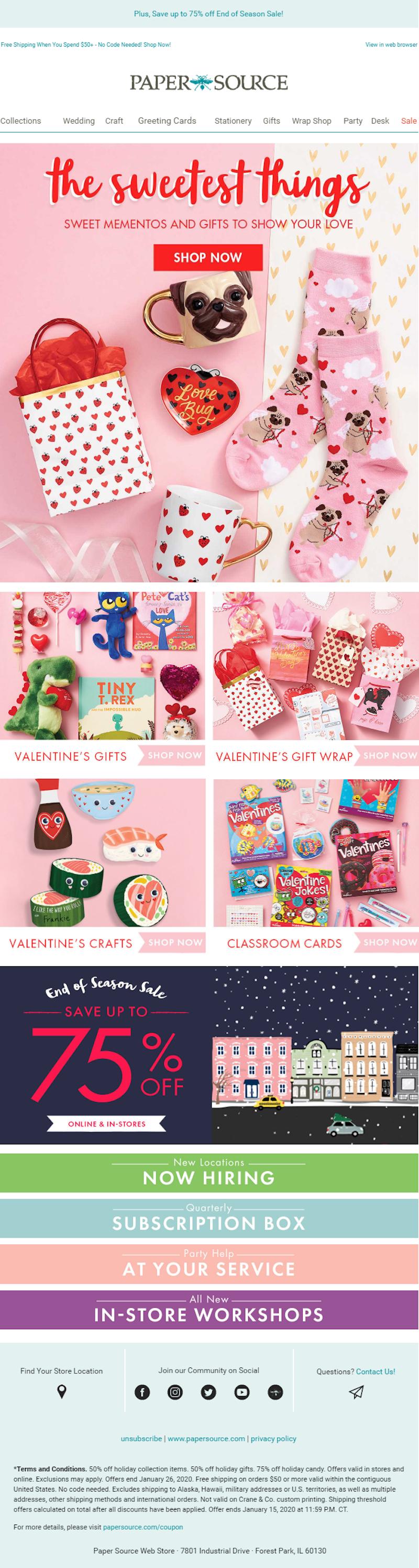 valentine's email marketing