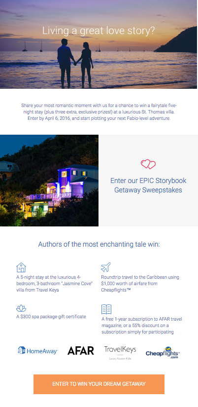 HomeAway email newsletter templates