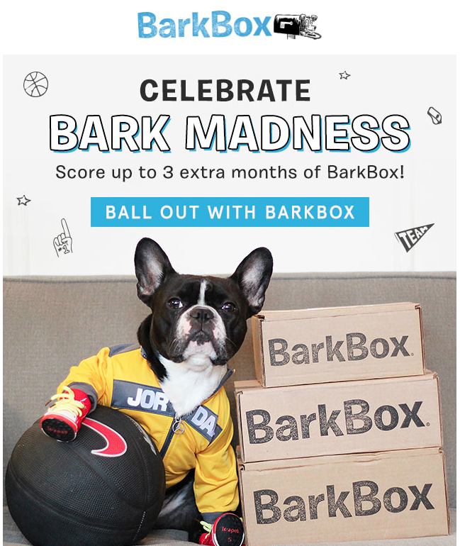 illustration in email: Bark Box