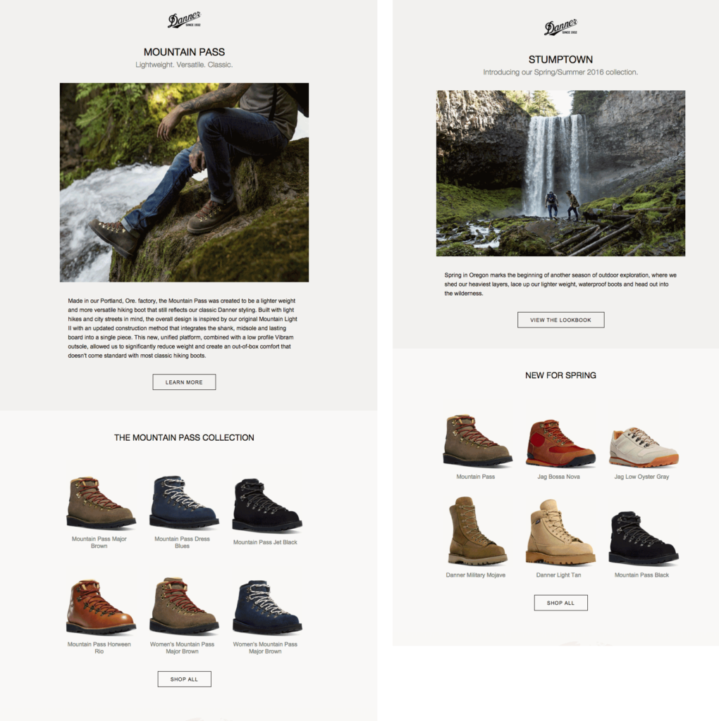 danner email newsletter templates