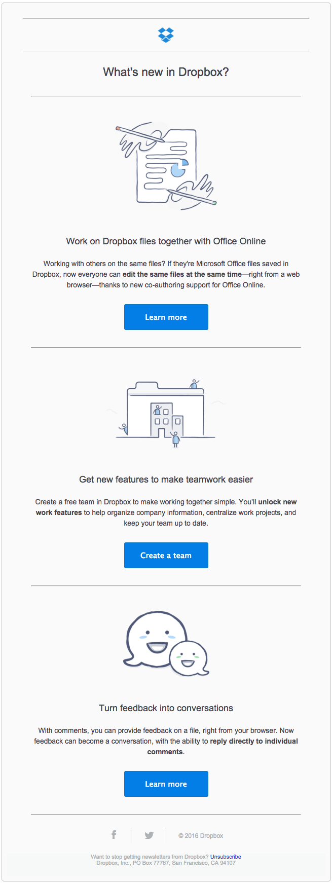 illustration in email: dropbox