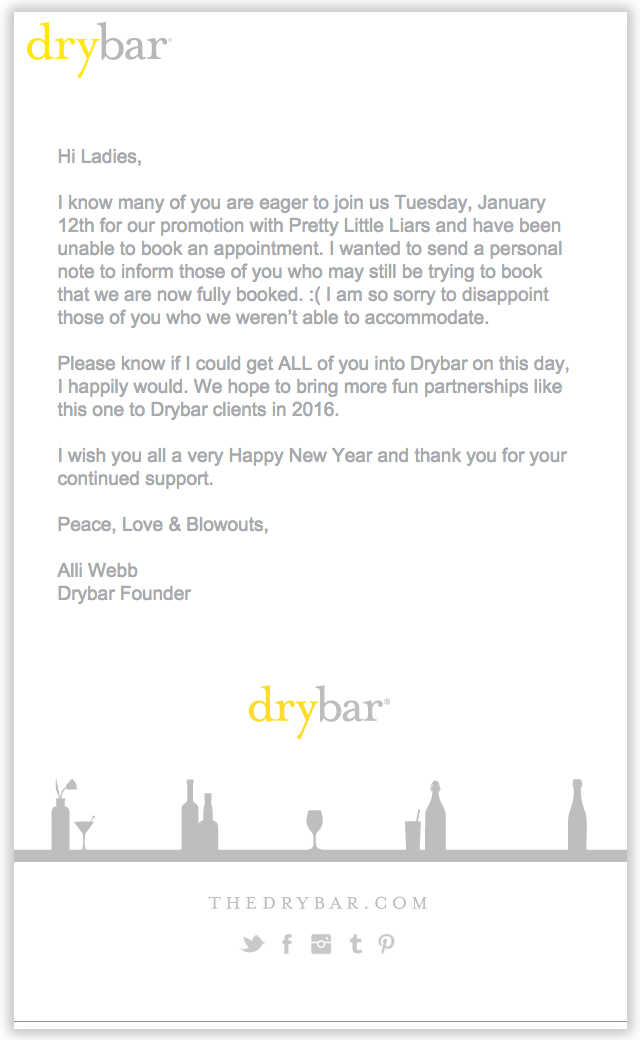 drybar email newsletter templates