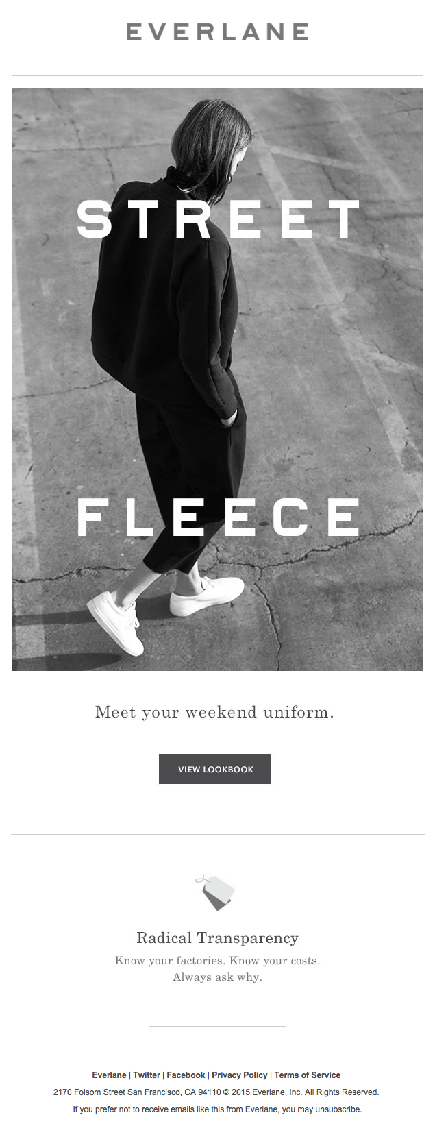 Everlane responsive email templates