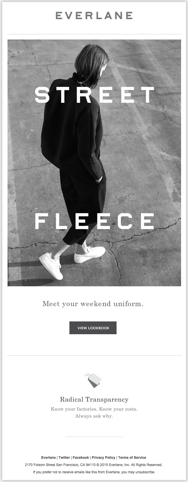 everlane email newsletter templates