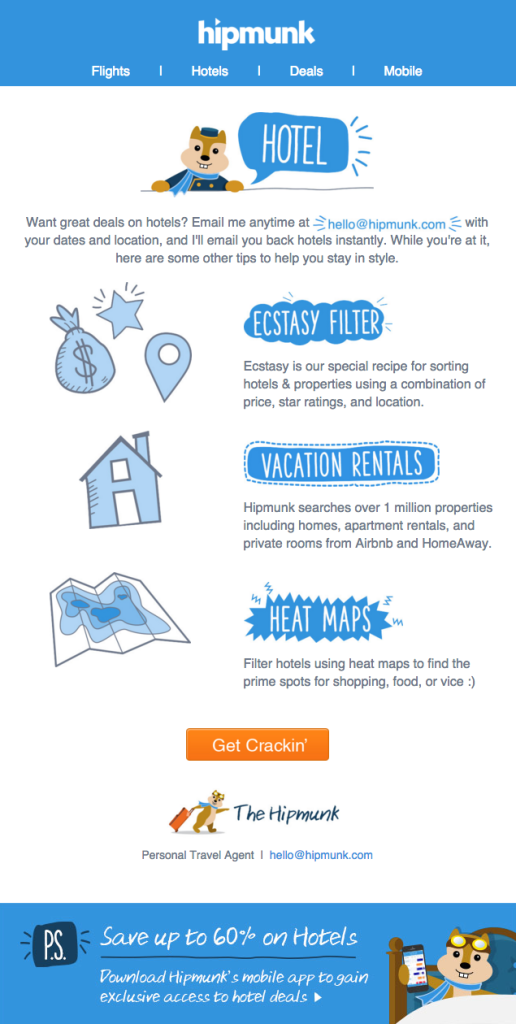 illustration in email: hipmunk