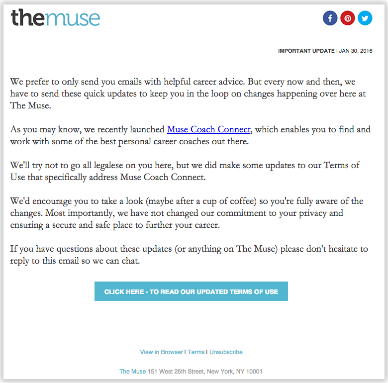 the_muse email newsletter templates