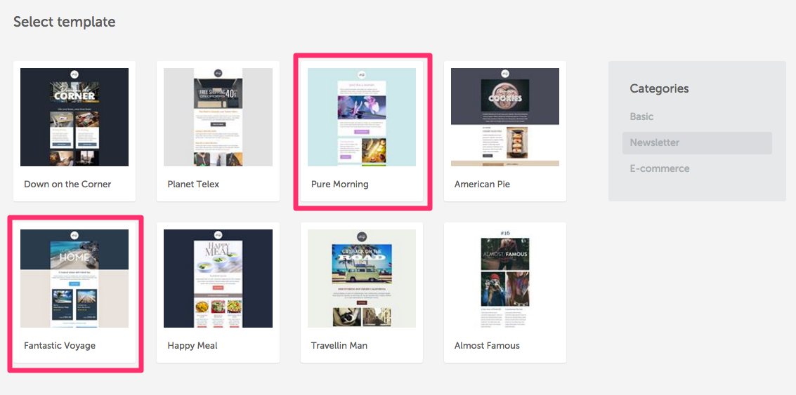 how to pick the right email layout type email design workshop