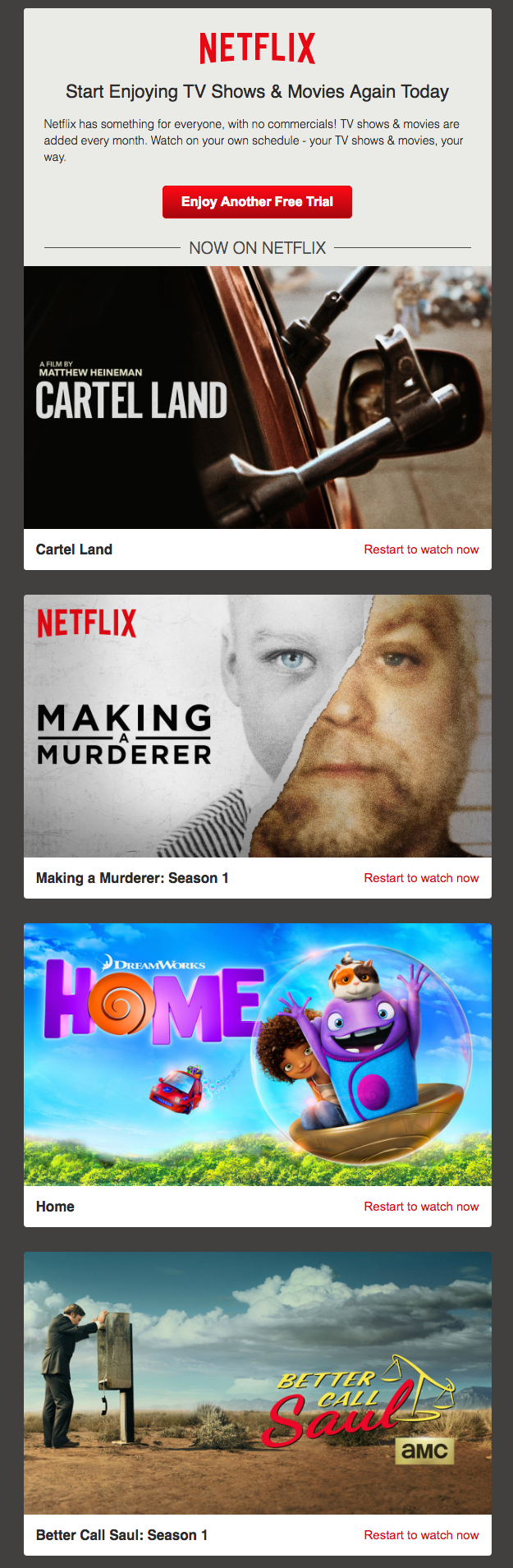 Netflix email drip campaigns