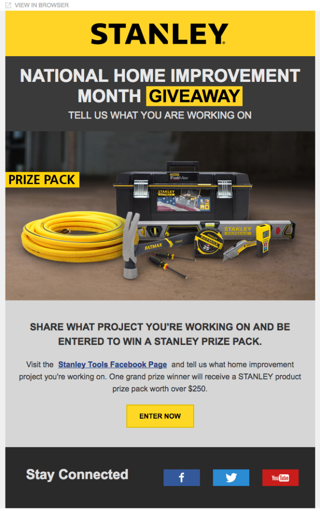 stanley email layout