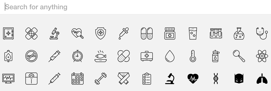 The Noun Project email design tools