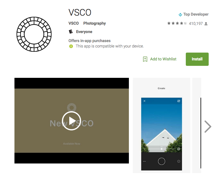VSCO email design tools