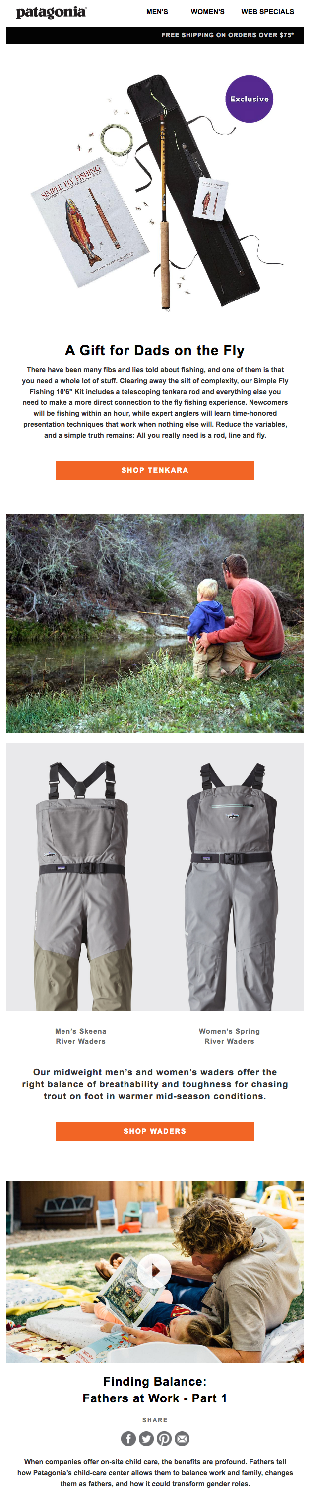 patagonia father's day emails