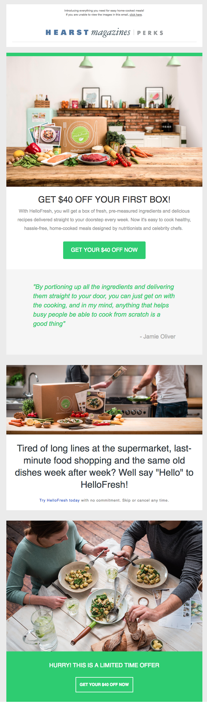 Hello Fresh email design trends