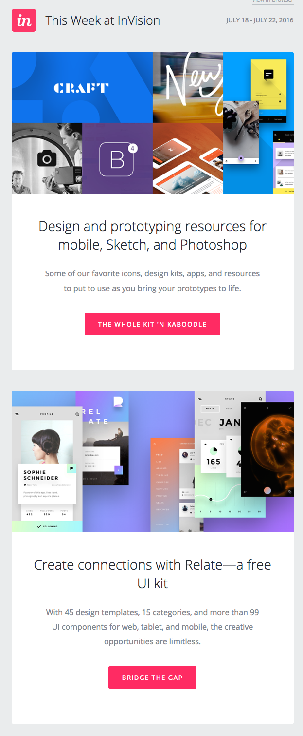 Invision email design trends