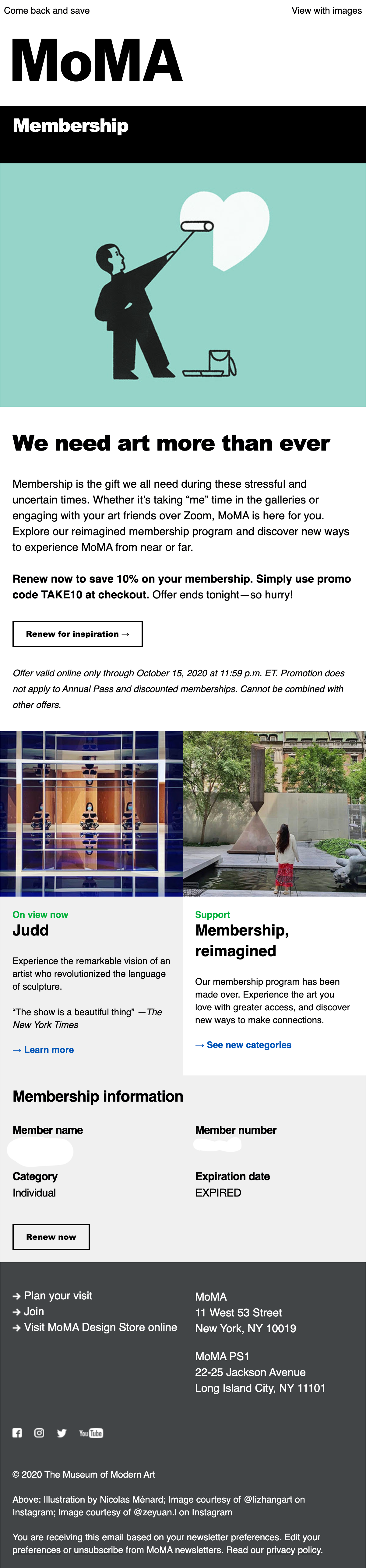 membership renewal email example