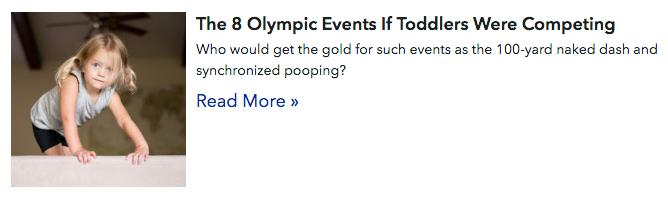 popsugar olympic email design