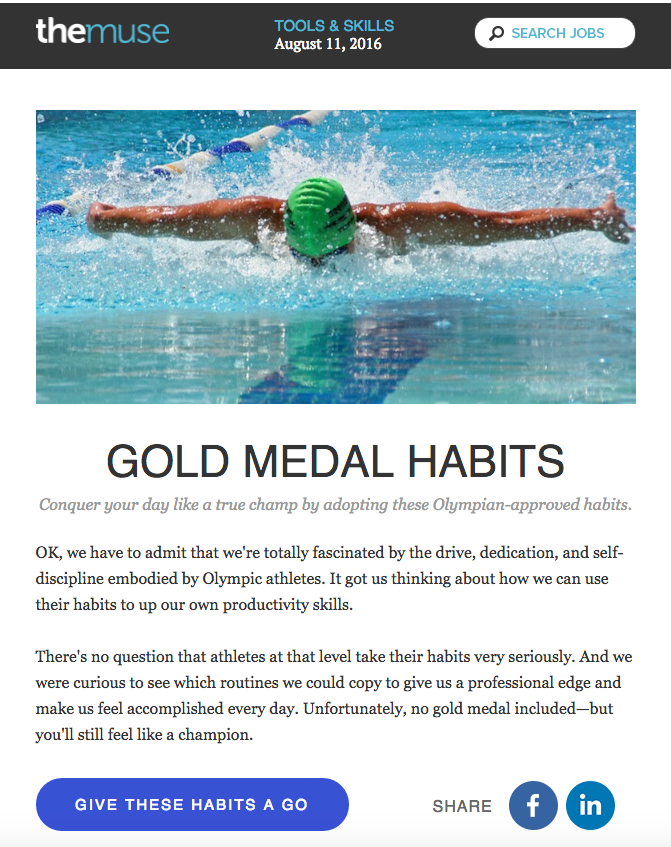 the muse olympic email design