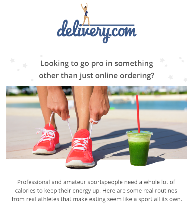 delivery.com olympic email design