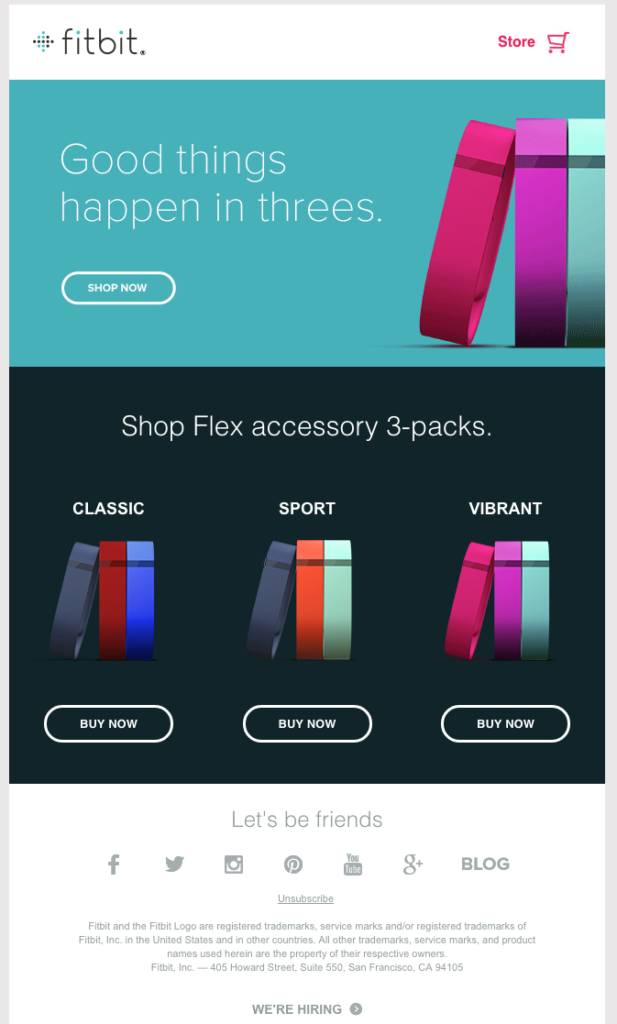How Fitbit Dominates Email Stream Design - Email Design