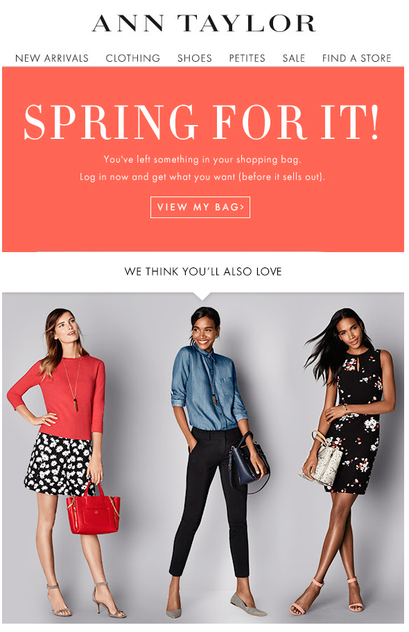 ann-taylor cart abandonment emails