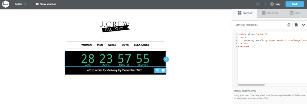 JCrew countdown-timer best blog posts