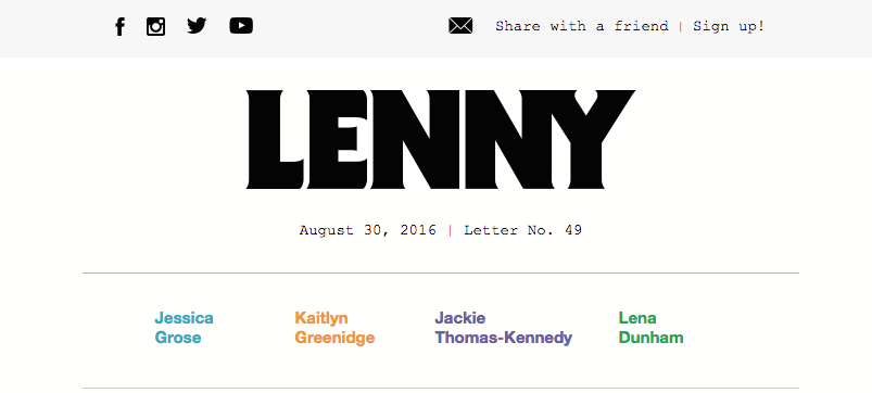 lenny header anchor links in email