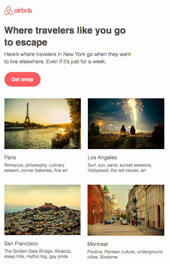 Air BnB CTA button color