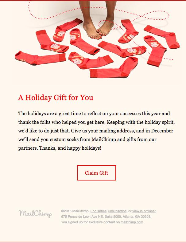 MailChimp customer appreciation emails
