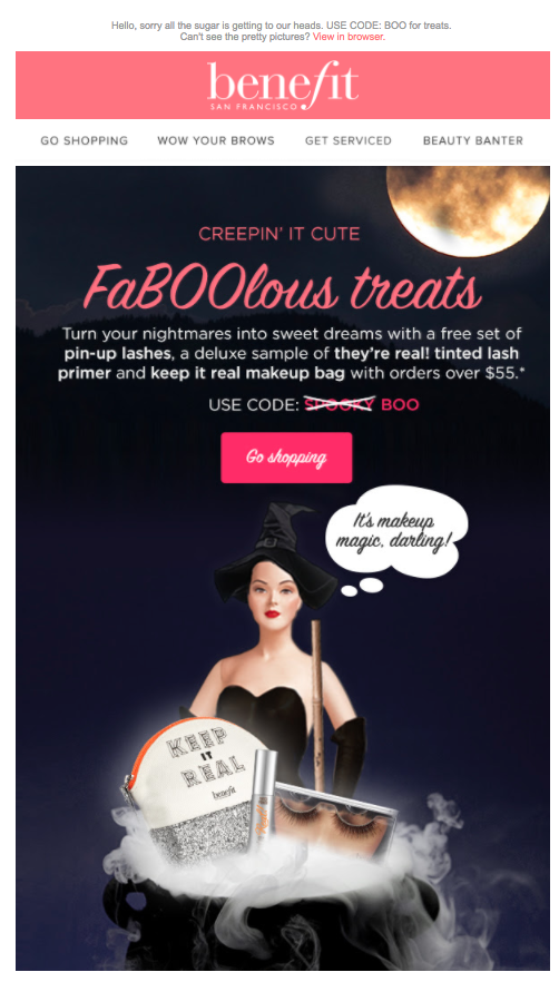 benefit apology emails