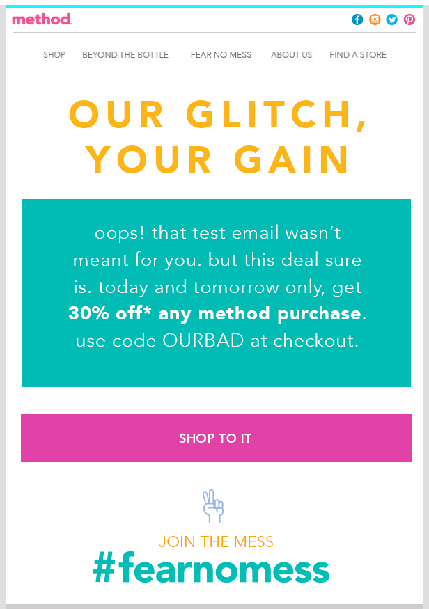method apology emails