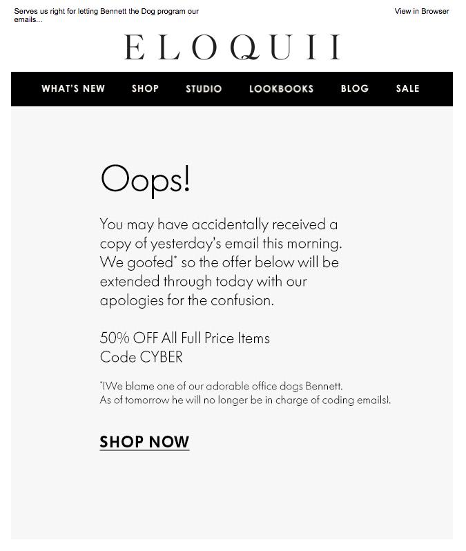 eloquii apology emails