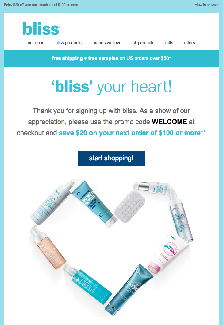 Bliss Customer Appreciation Emails  Appreciation Email