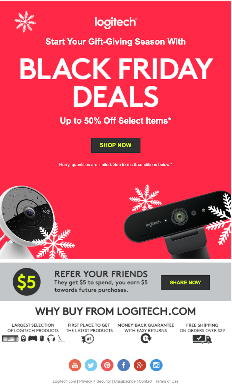 marketing email for black friday