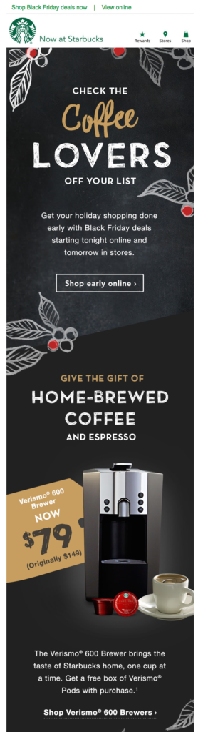 starbucks black friday email