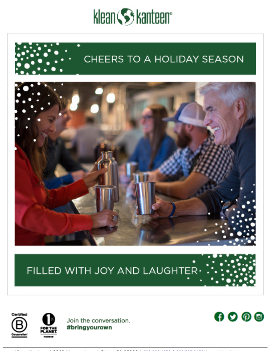 klean kanteen holiday e-Cards for clients