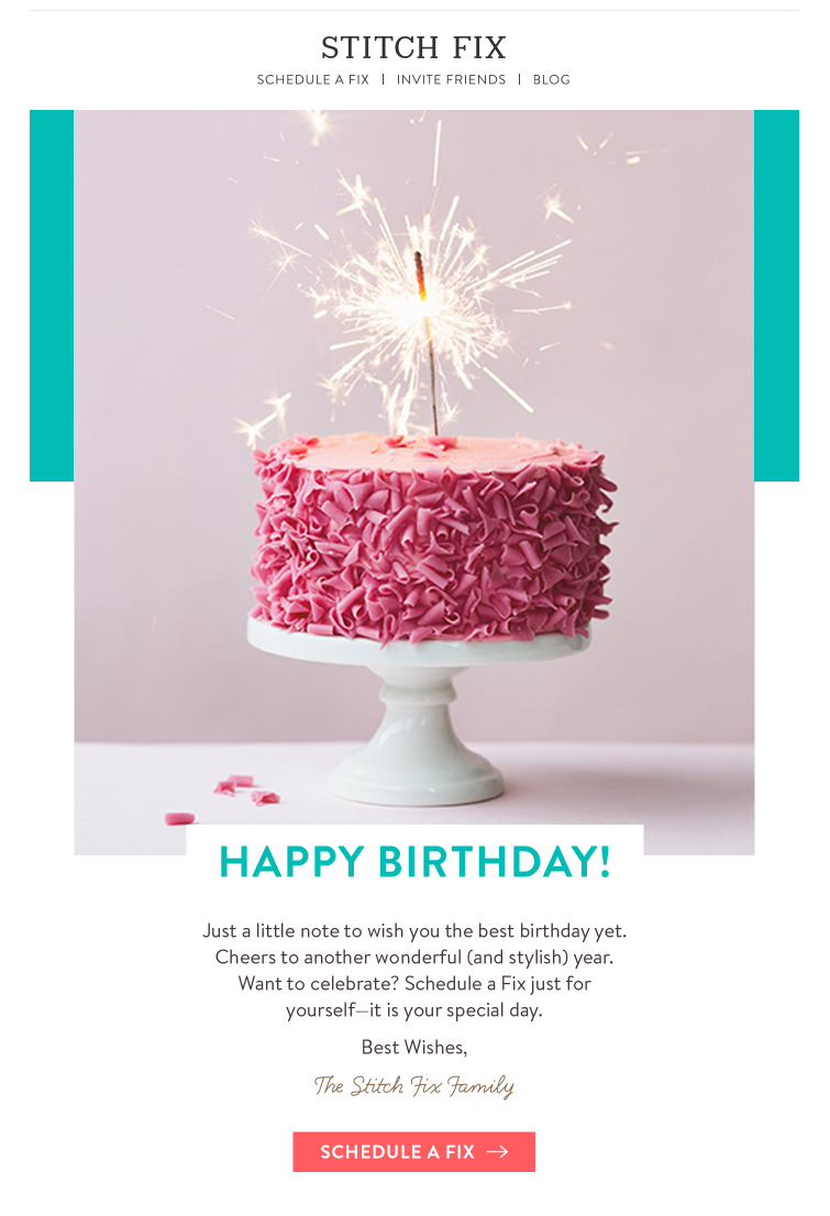 Birthday Cake Images For Email : 7 Design Tips for Birthday Emails - Email Design Workshop