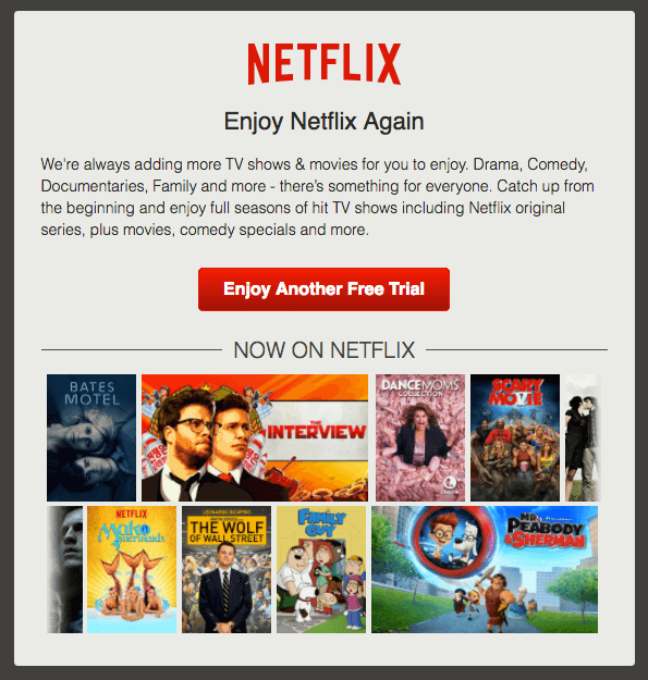 Netflix reengagement emails